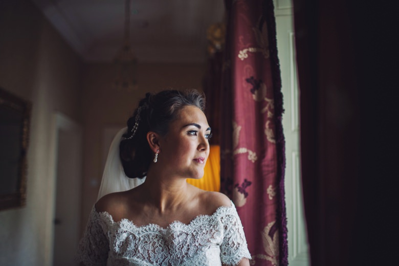 Bride in the window