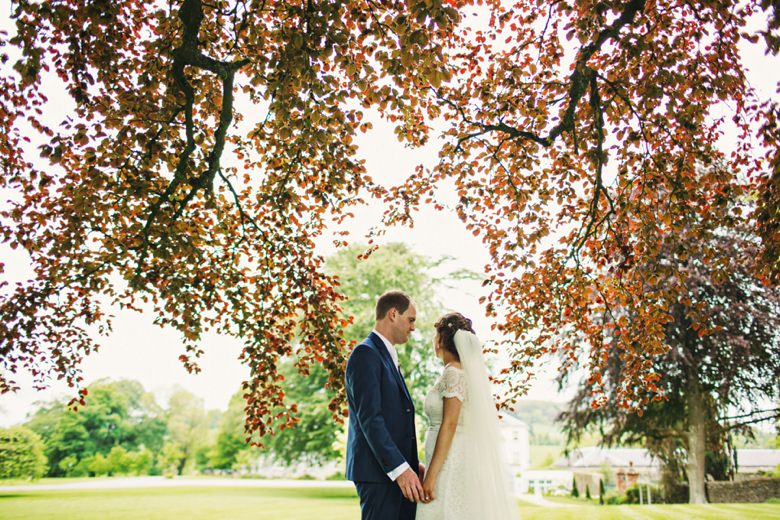 Bride & Groom in the trees