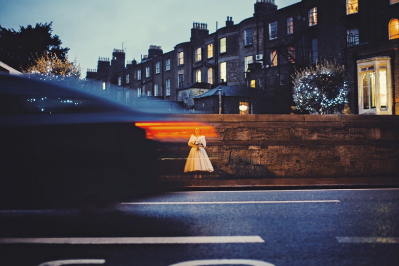 Bride in the lights 25 Fitzwilliam Place
