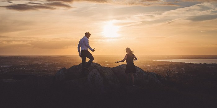 J+I | Killiney Hill at Sunset | Pre-wedding Photos
