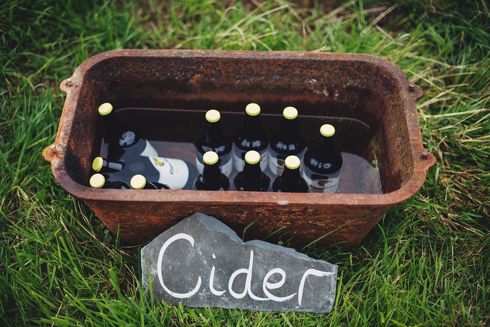 cider in a trough