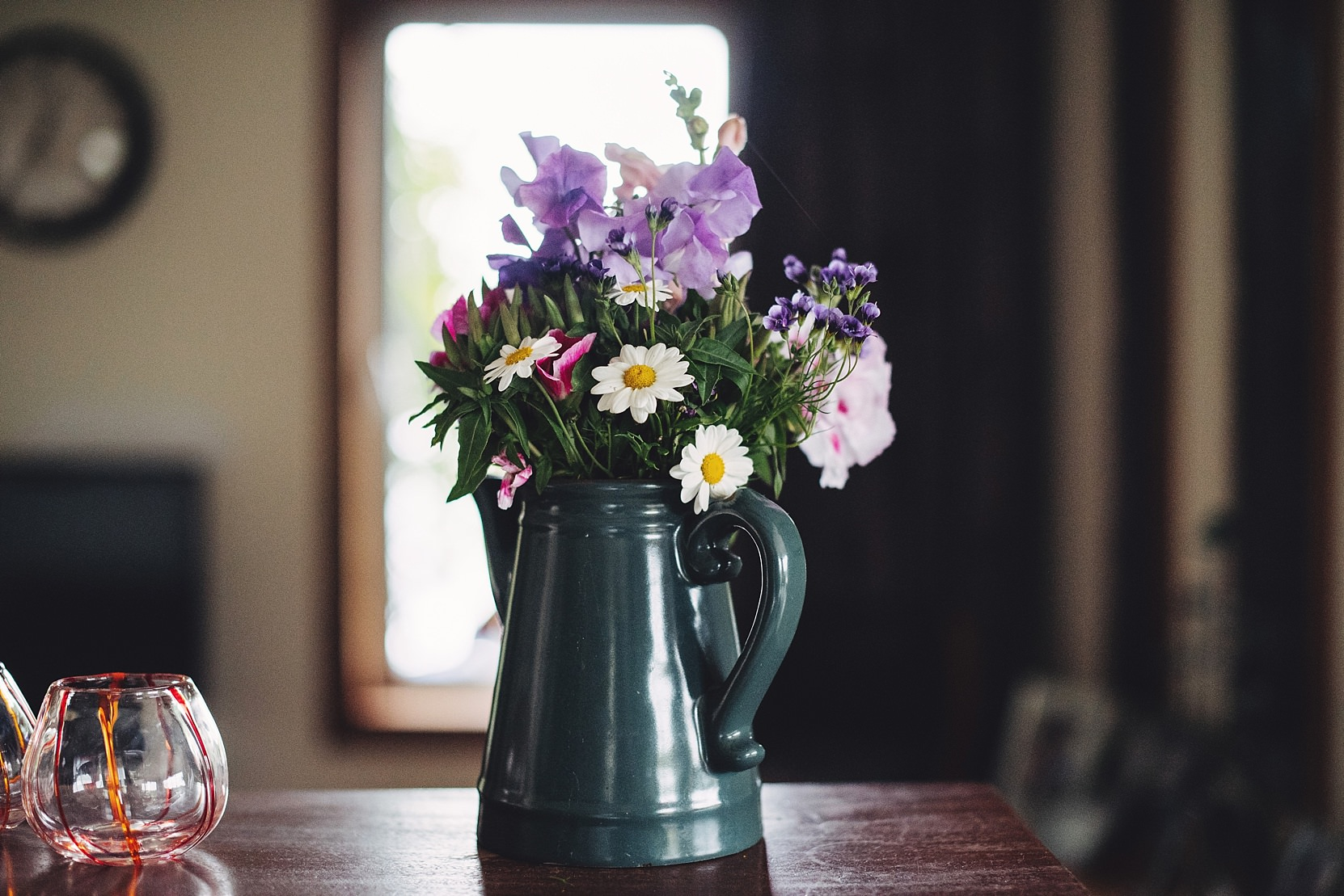 Wedding Day flowers in a Jug