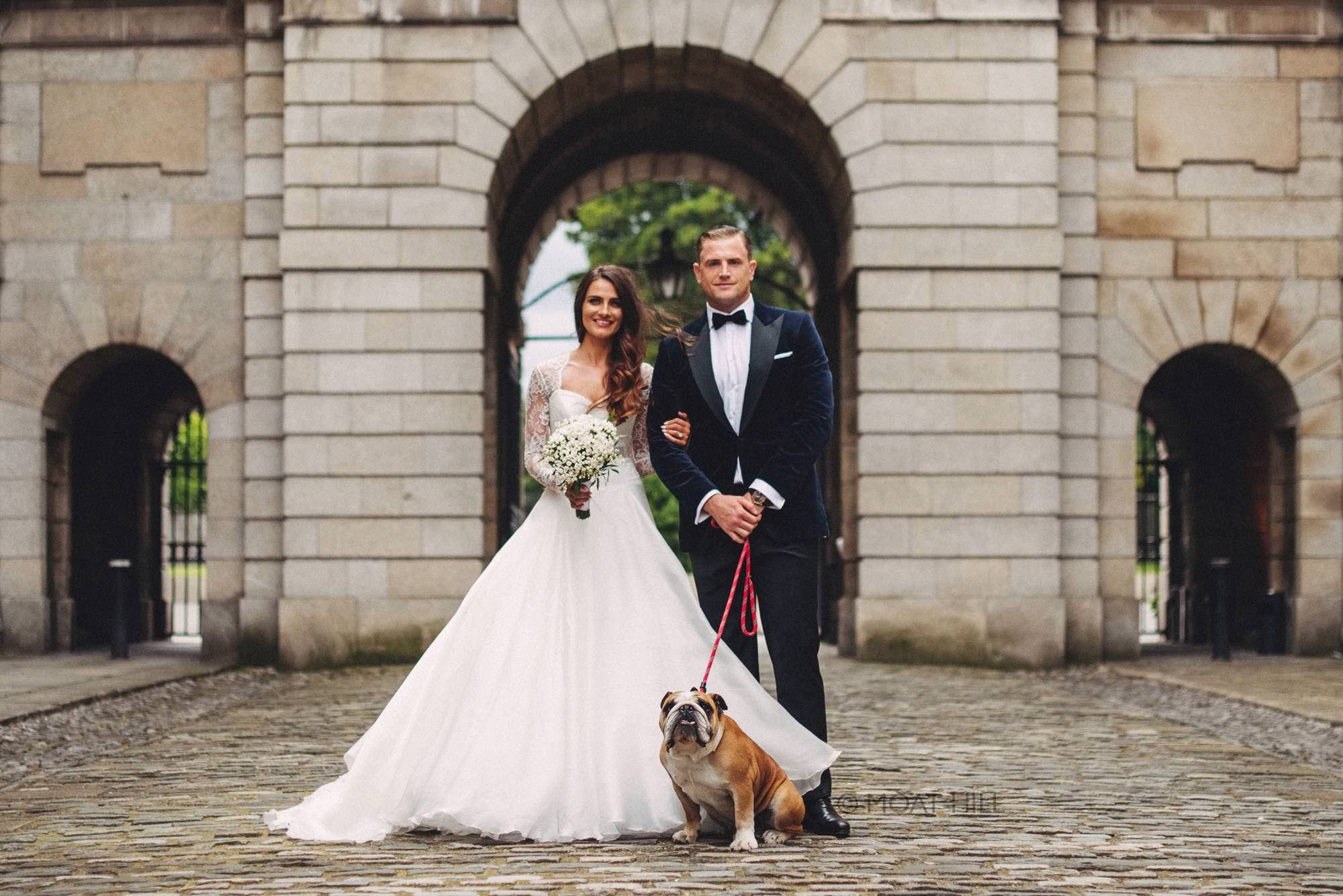 Jamie Heaslip Wedding to Sheena at the Kings Inn Dublin by wedding photographers Moat Hill.