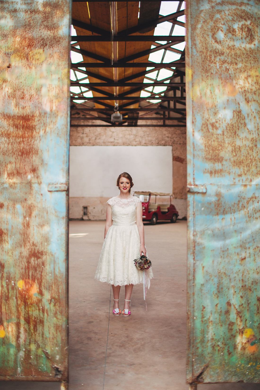 Bride in the doors