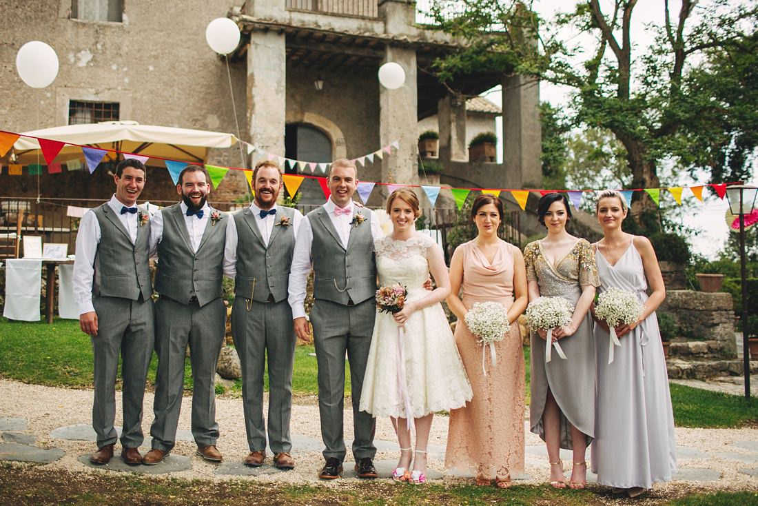 Bridal Party at Italy wedding