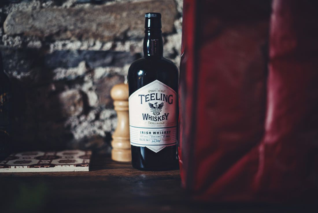 A bottle of Teeling Whiskey