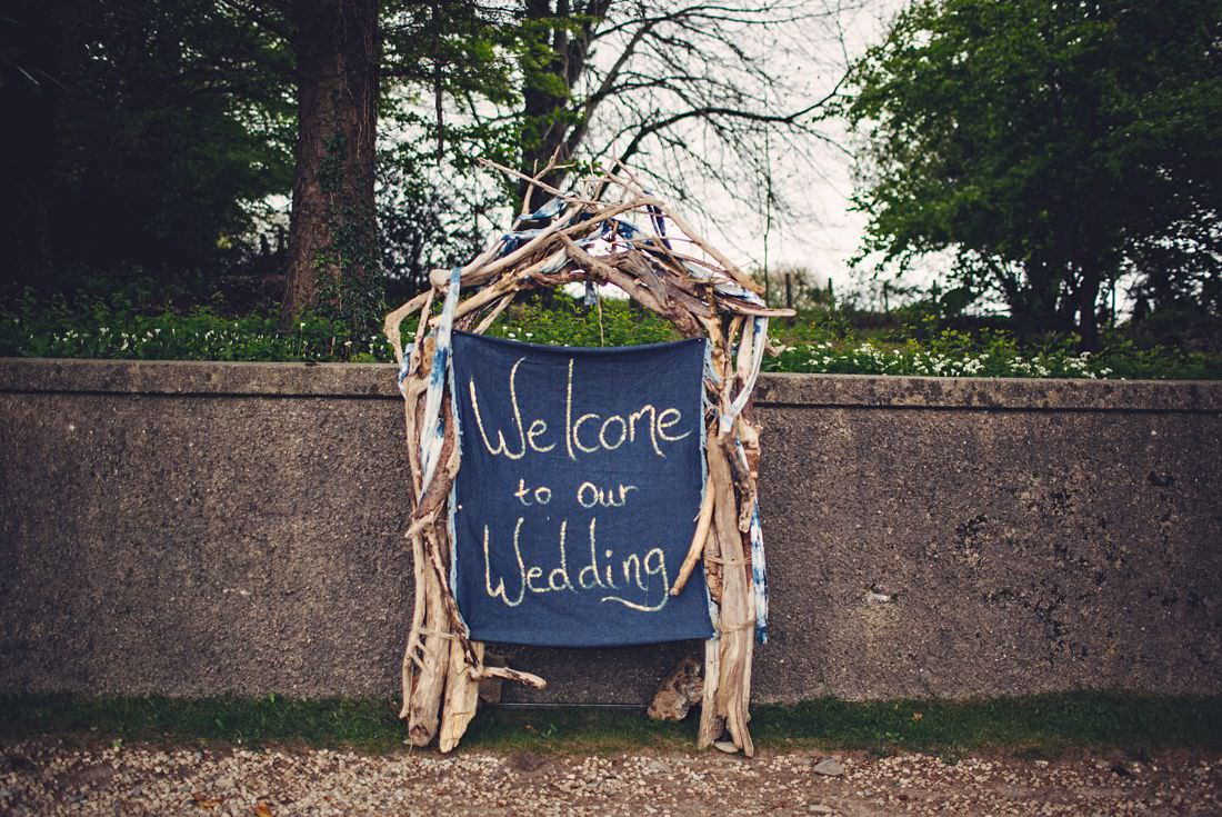 A welcome to our wedding sign