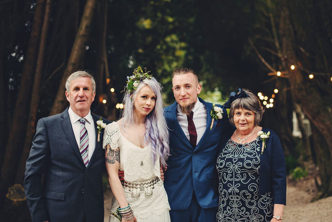 family shot at a wedding