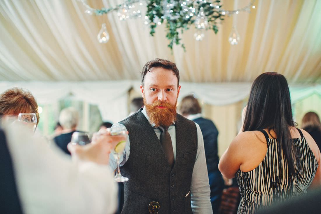 people toasting at a wedding