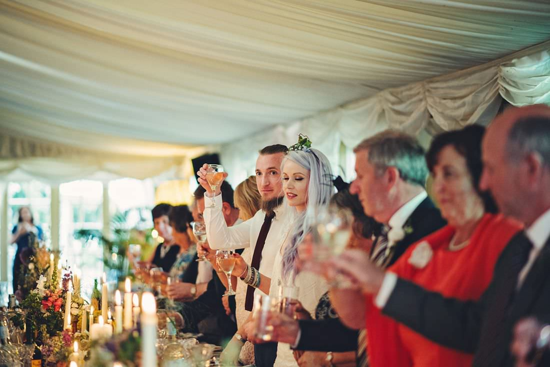 guest make a toast at a wedding