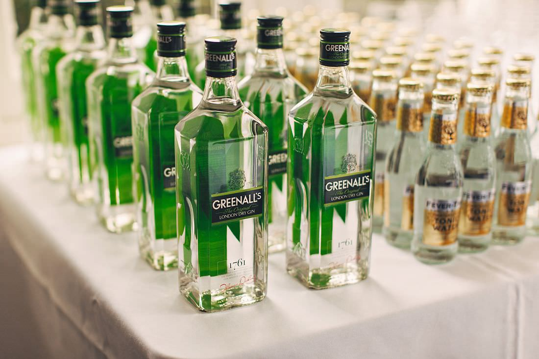 some bottles of gin