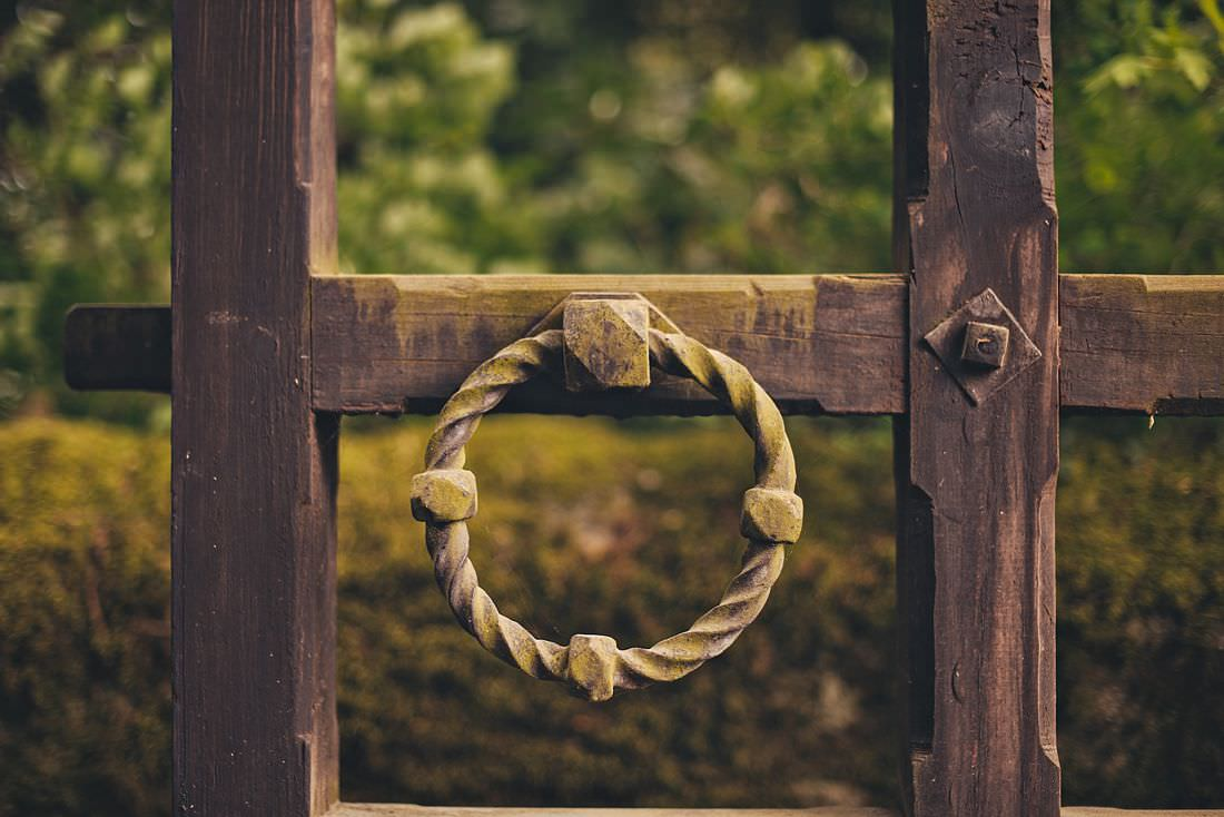 A ring on a door of a country house