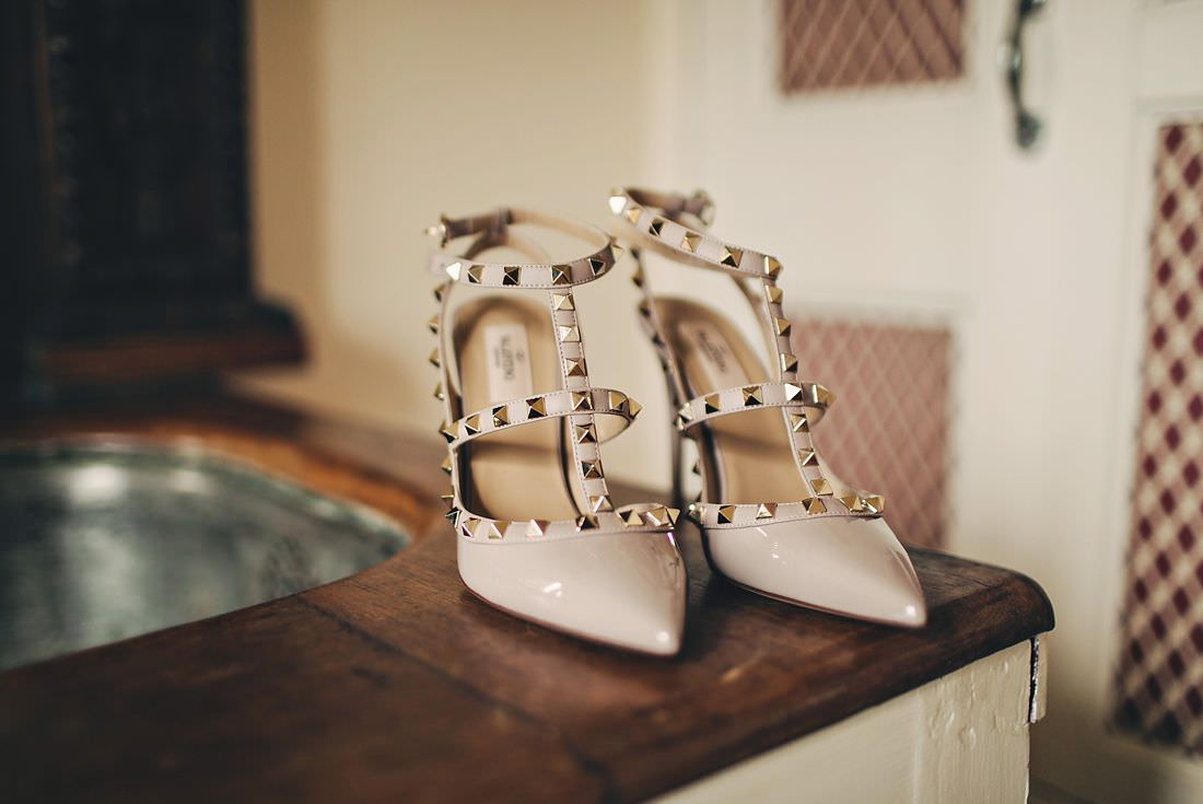 A pair of bridal shoes