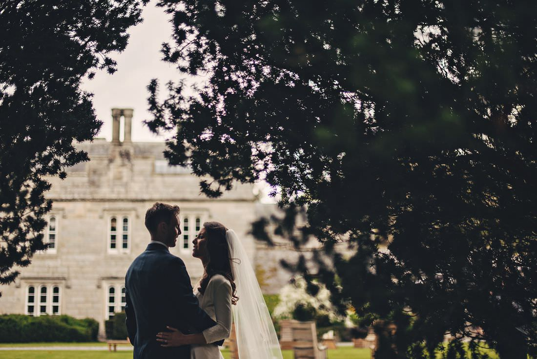silhouette of a couple at a Lisnavagh House Wedding