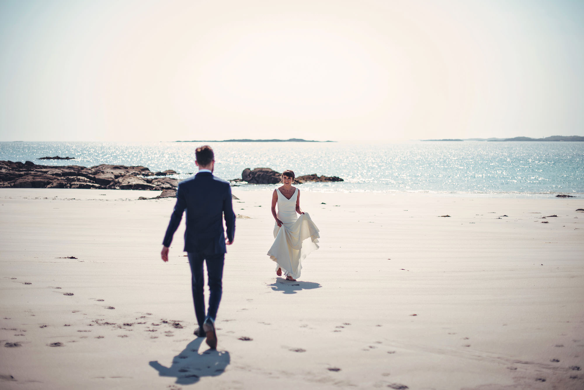 Summer wedding on a beach Irish Wedding Photography