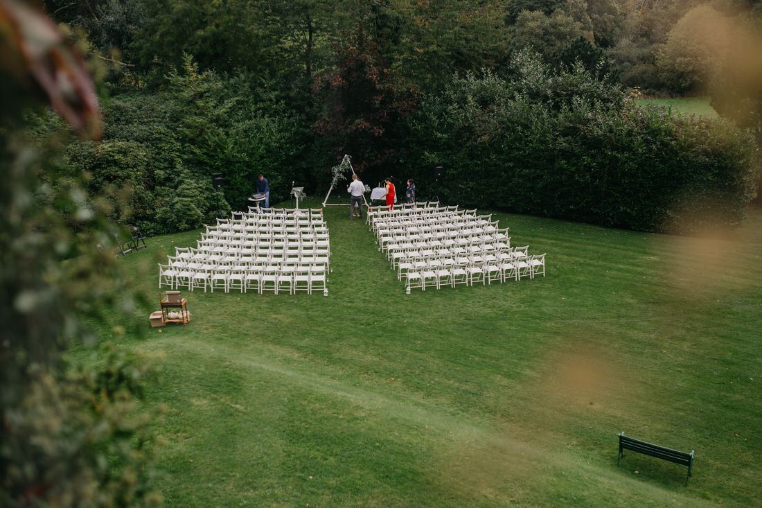 outdoor setting for a wedding
