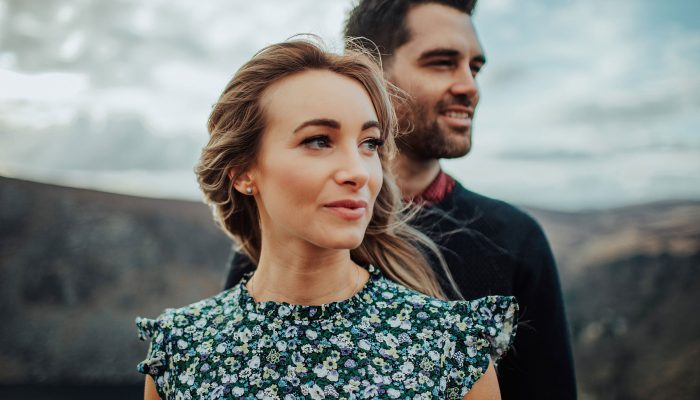 K + A Wicklow Mountains Engagement Photography